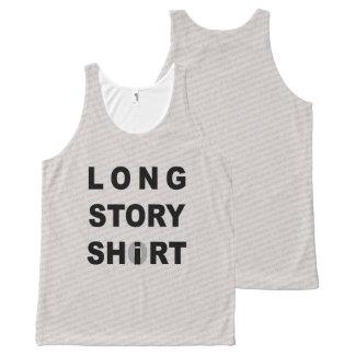 Lange Geschichte kurz/Shirt Komplett Bedrucktes Tanktop