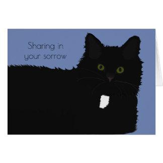 Lange Haar-Katzen-Haustier-Beileids-Karte Mitteilungskarte