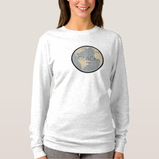 LANGE HÜLSE SCHWARZE LEERE FRAUEN-' S T-Shirt