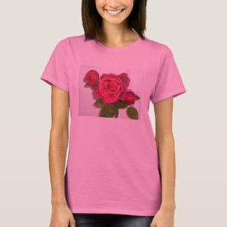Lange Hülsenspitze der Rose T-Shirt
