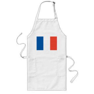Lange Küchenschürze mit Frankreich Fahne Lange Schürze
