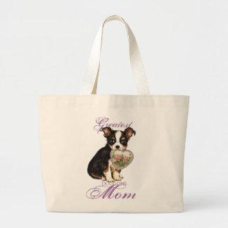 Lange Mantel-Chihuahua-Herz-Mamma Jumbo Stoffbeutel
