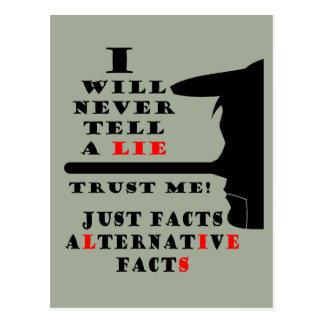 Lange Nasen-alternative Tatsachen liegen nie Postkarte
