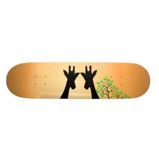 Lange Peitschen-Giraffen Personalisierte Skatedecks