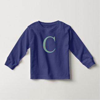 Lange sleeved Spitze mit Buchstaben C Kleinkind T-shirt