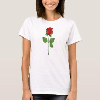 Lange Stamm-Rote Rose T-Shirt