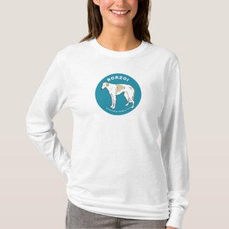 Langer die Hülsen-T - Shirt der Borzoi-Frauen