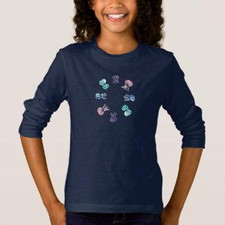 Langer die Hülsen-T - Shirt der Quallen-Mädchen