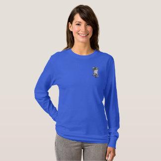 Langer die Hülsen-T - Shirt der schönen Frauen