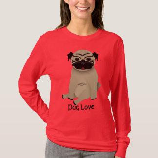 Langer Hülsen-T - Shirt der Mops-Liebe