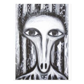 Langer Nasen-Wahrsager (sonderbares Postkarte