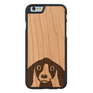 Langer Ohr-Hund Carved® iPhone 6 Hülle Kirsche