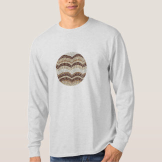 Langer T - Shirt die Hülse der Männer mit beige