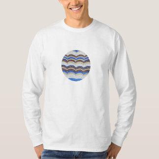 Langer T - Shirt die Hülse der Männer mit blauem
