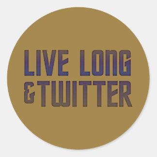 Langer u. Twitter-lebhafttext Runder Sticker
