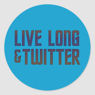 Langer u. Twitter-lebhafttext Runde Sticker