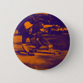 Langes Brett-Gedränge Runder Button 5,1 Cm