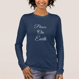 Langes die Hülsen-Shirt der Weltfrieden-Frauen Langarm T-Shirt