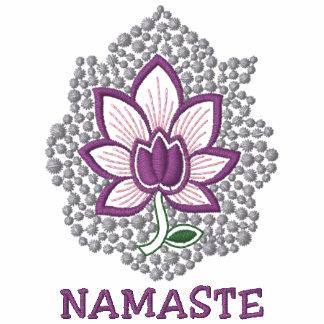 Langes die Hülsen-Shirt der Yoga-Namaste
