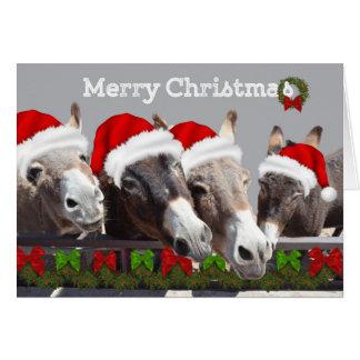 Langes Earred Weihnachten Karte