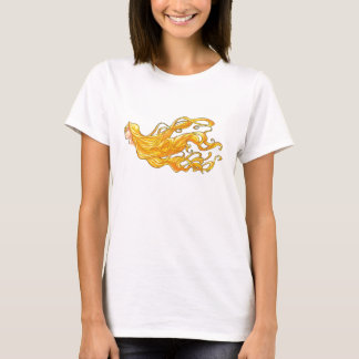 Langes goldenes Haar T-Shirt