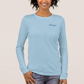 Langes Hülsent-stück der griechischen Regel Langarm T-Shirt