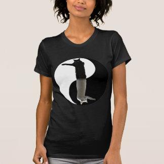 langes Katze yinyang T-Shirt