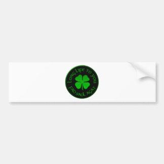 Langes Leben zu Ihnen irisches Sprichwort Autoaufkleber
