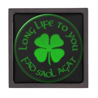 Langes Leben zu Ihnen irisches Sprichwort Schachtel