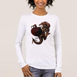 Langes Shirt Hülse YingYang Drachen