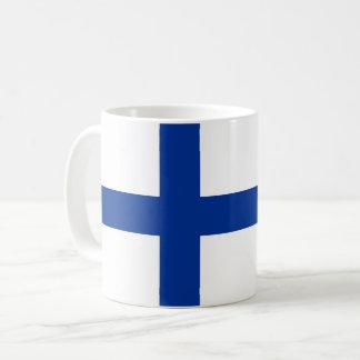 langes Symbol Finnland-Landesflagge Kaffeetasse