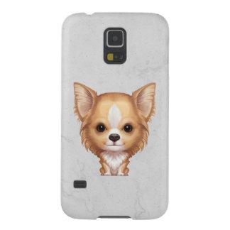 Langhaarige beige und weiße Chihuahua Hülle Fürs Galaxy S5