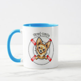 Langhaarige Chihuahua-erster Kamerad Tasse