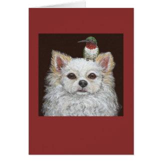 Langhaarige Chihuahuagrußkarte Grußkarte