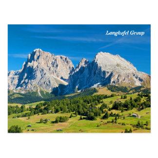 Langkofel Gruppe in Südtirol, Italien Postkarte
