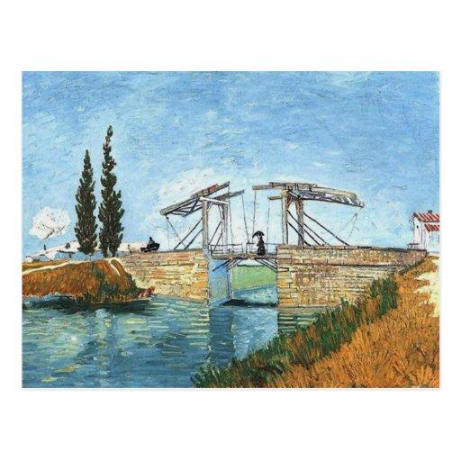 Langlois Brücke bei Arles durch Vincent van Gogh Postkarten