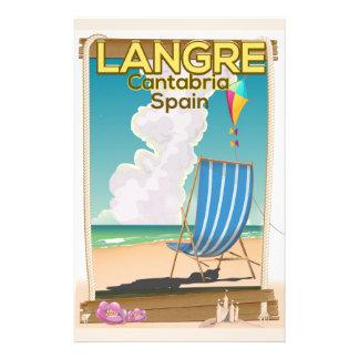 Langre, Strandplakat Kantabriens Spanien Briefpapier