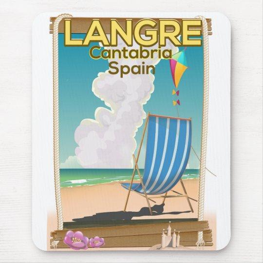 Langre, Strandplakat Kantabriens Spanien Mousepads