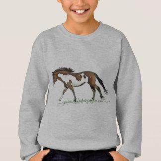 Langsam galoppierendes Bucht-Farben-Pferd Sweatshirt