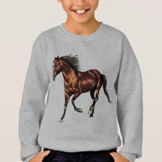 Langsam galoppierendes Bucht-Pferd Sweatshirt