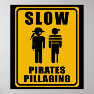 LANGSAME Piraten, die Zeichen - Plakat plündern