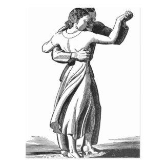 Langsame Tanzen-Paare Postkarte