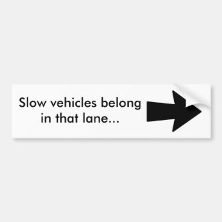 Langsamer Fahrzeuge bumber Aufkleber Autoaufkleber