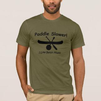 Langsameres Schwarzes des Paddels T-Shirt