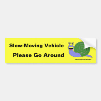 Langsames Fahrzeug Autoaufkleber