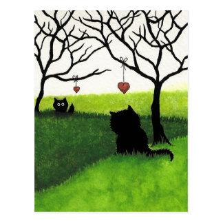 LangstreckenLiebe - vermisst Sie Postkarte