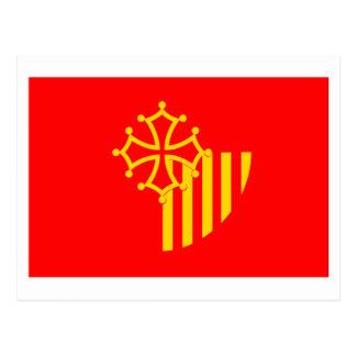 Languedoc-Roussillon Flagge Postkarte