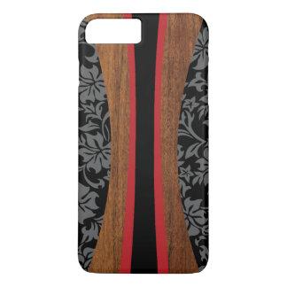 Laniakea hawaiisches Imitat-Holz-Surfbrett iPhone 7 Plus Hülle