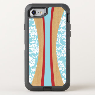 Laniakea hawaiisches Imitat-Holz-Surfbrett OtterBox Defender iPhone 8/7 Hülle