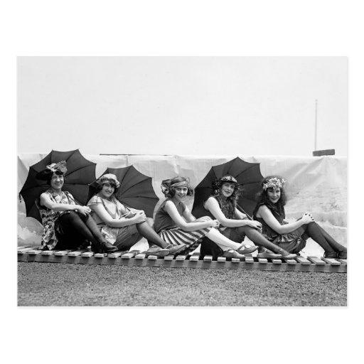 Lansburg, das Mädchen badet: 1922 Postkarte